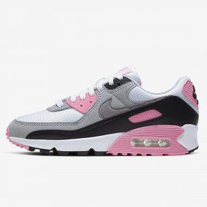nike air max 90 rosa blanco gris