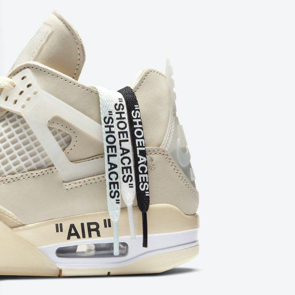 Nike Air Jordan 4 Off White Sail Beige